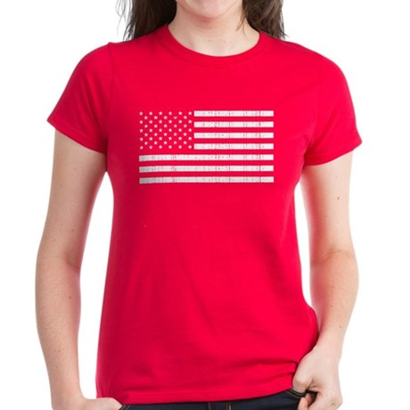 Rugged Amercian Flag Women's Dark T-Shirt