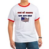 Out of Many, We are One- Obama T