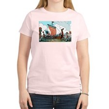 Viking Raid Women's Pink T-Shirt