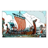 Viking Raid Rectangle Decal