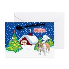 Believe Bulldog Greeting Cards (Pk of 20)