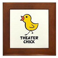 Theater Chick Framed Tile