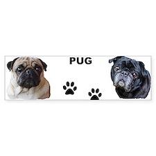 Pug Bumper Bumper Sticker