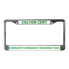 Colton CERT License Plate Frame