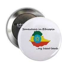 "Ethiopian Heartbeat 2.25"" Button"