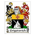 Grigorovich Family Crest Small Poster