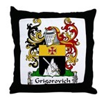 Grigorovich Family Crest Throw Pillow