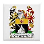 Grigorovich Family Crest Tile Coaster