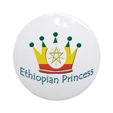 Ethiopian Princess Ornament (Round)
