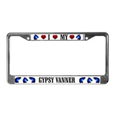 Owned by a Gypsy Vanner License Plate Frame