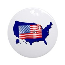 The Stars and Stripes! Ornament (Round)