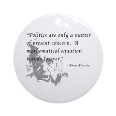 Math vs. Politics Ornament (Round)