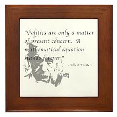 Math vs. Politics Framed Tile