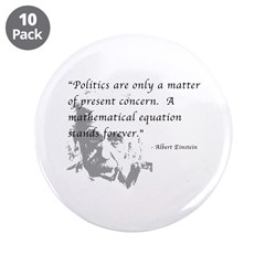 "Math vs. Politics 3.5"" Button (10 pack)"