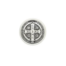 Mini Button - Reverse of Medal of Saint Benedict