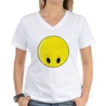 Smiley Face - Looking Down Women's V-Neck T-Shirt