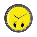 Smiley Face - Looking Down Wall Clock