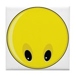 Smiley Face - Looking Down Tile Coaster
