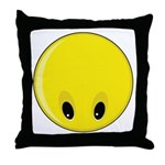 Smiley Face - Looking Down Throw Pillow