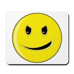 Smiley Face - Evil Grin Mousepad