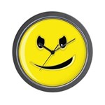 Smiley Face - Evil Grin Wall Clock