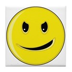 Smiley Face - Evil Grin Tile Coaster