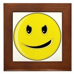 Smiley Face - Evil Grin Framed Tile