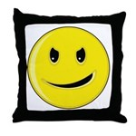 Smiley Face - Evil Grin Throw Pillow