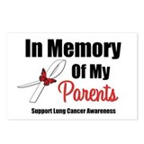 In Memory Parents Lung Cancer Postcards (Package o