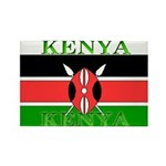 Kenya Kenyan Flag Rectangle Magnet
