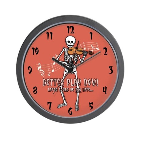 Violin Player Skeleton Wall Clock