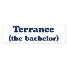 Terrance the bachelor Bumper Bumper Sticker