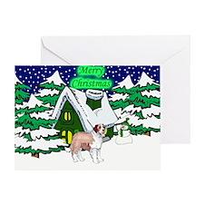 Country St Bernard Christmas Greeting Card