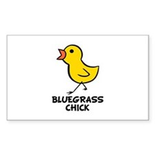 Bluegrass Chick Rectangle Decal