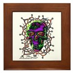 Tribal Skull - Framed Tile
