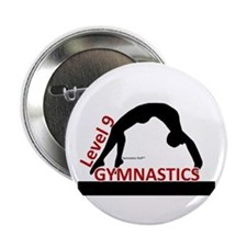 Gymnastics Button - Level 9