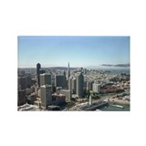 San Francisco Skylines Rectangle Magnet (100 pack)