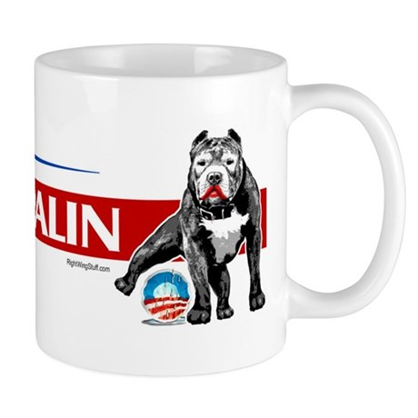 Pitbull Pee Obama Logo Mug