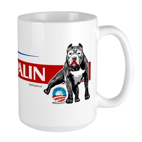 Pitbull Pee Obama Logo Large Mug
