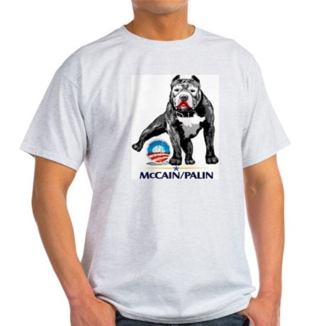 Pitbull Pee Obama Logo Light T-Shirt