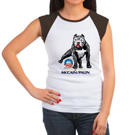 Pitbull Pee Obama Logo Women's Cap Sleeve T-Shirt