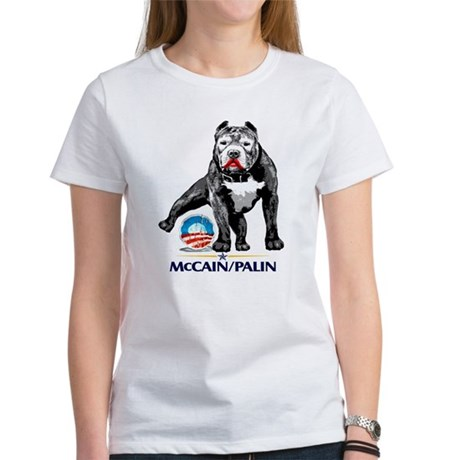 Pitbull Pee Obama Logo Women's T-Shirt