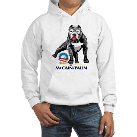 Pitbull Pee Obama Logo Hooded Sweatshirt