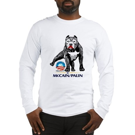 Pitbull Pee Obama Logo Long Sleeve T-Shirt