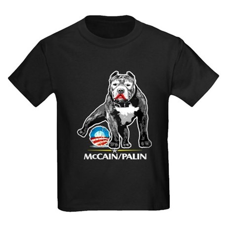 Pitbull Pee Obama Logo Kids Dark T-Shirt