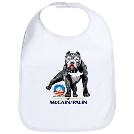 Pitbull Pee Obama Logo Bib