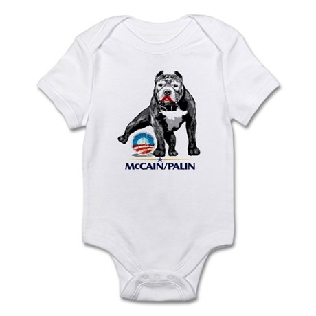 Pitbull Pee Obama Logo Infant Bodysuit