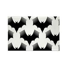 BLACK BATS Rectangle Magnet