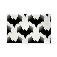 BLACK BATS Rectangle Magnet (10 pack)