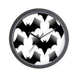 BLACK BATS Wall Clock